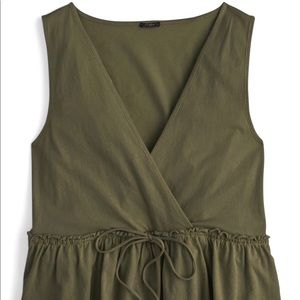 J CREW PEASANT TOP OLIVE GREEN SIZE XS